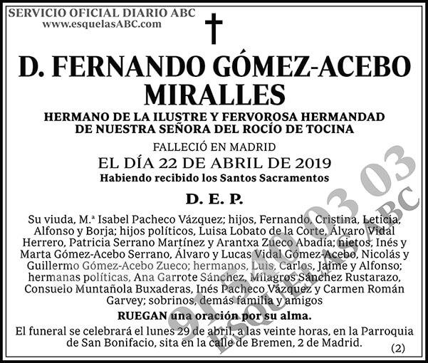 Fernando Gómez-Acebo Miralles