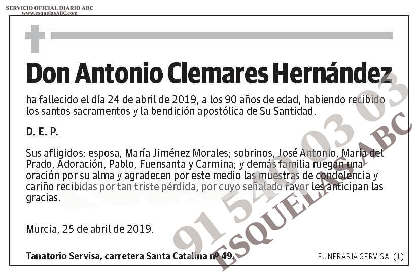 Antonio Clemares Hernández