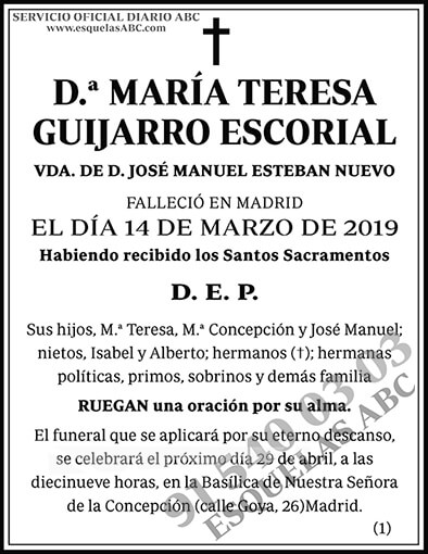 María Teresa Guijarro Escorial