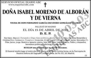 Isabel Moreno de Alborán y de Vierna