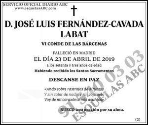 José Luis Fernández-Cavada Labat