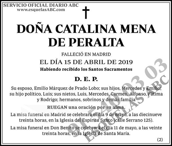 Catalina Mena de Peralta