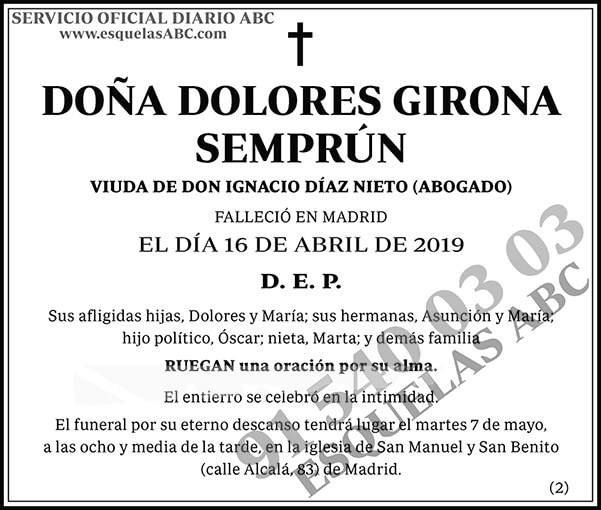 Dolores Girona Semprún