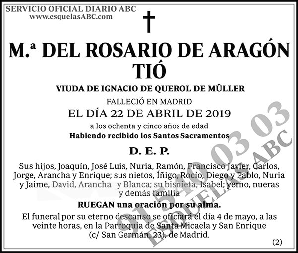 M.ª del Rosario de Aragón Tió