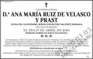 Ana María Ruiz de Velasco y Prast
