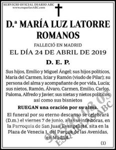 María Luz Latorre Romanos