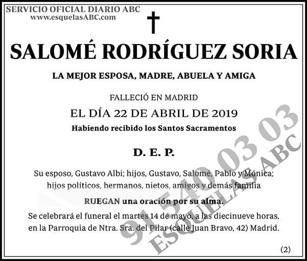 Salomé Rodríguez Soria