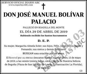 José Manuel Bolívar Palacio