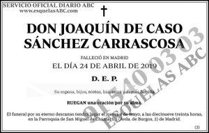 Joaquín de Caso Sánchez Carrascosa