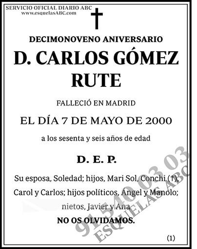 Carlos Góemz Rute