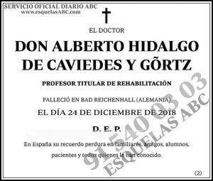 Alberto Hidalgo de Caviedes y Gortz