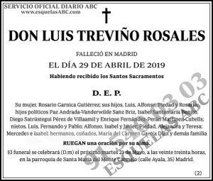 Luis Treviño Rosales