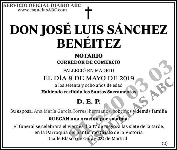 José Luis Sánchez Benéitez