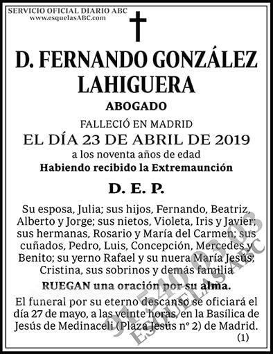 Fernando González Lahiguera