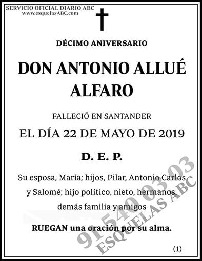 Antonio Allué Alfaro