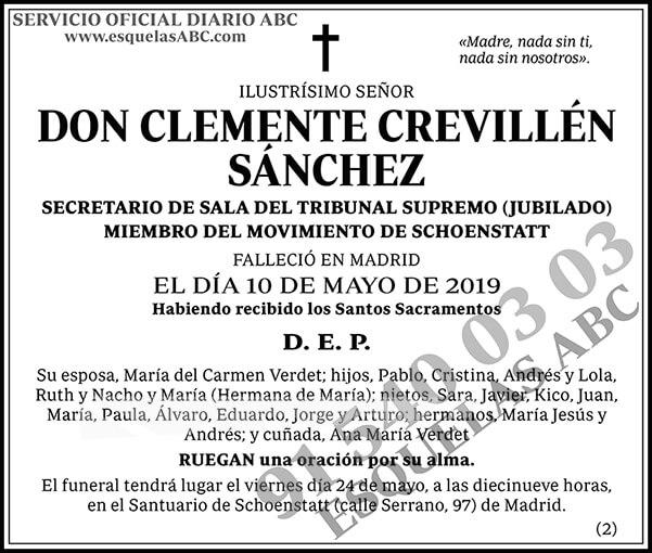 Clemente Crevillén Sánchez