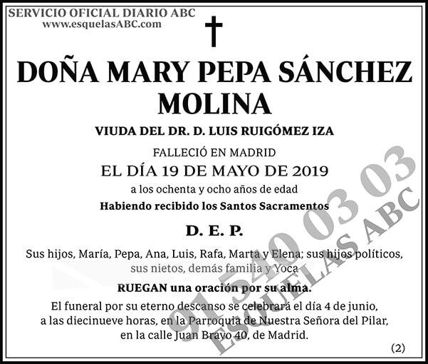 Mary Pepa Sánchez Molina