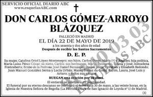 Carlos Gómez-Arroyo Blázquez