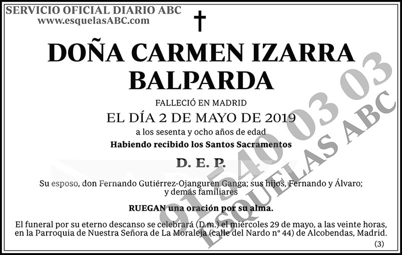 Carmen Izarra Balpanda