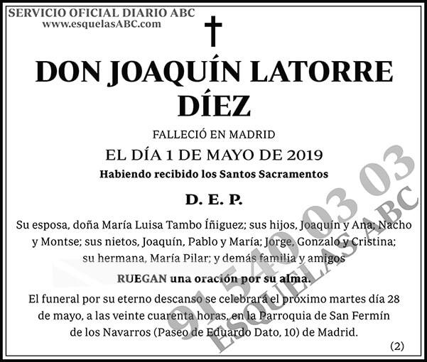 Joaquín Latorre Díez