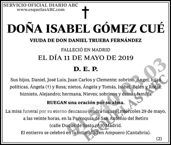 Isabel Gómez Cué