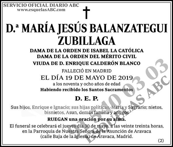 María Jesús Balanzategui Zubillaga