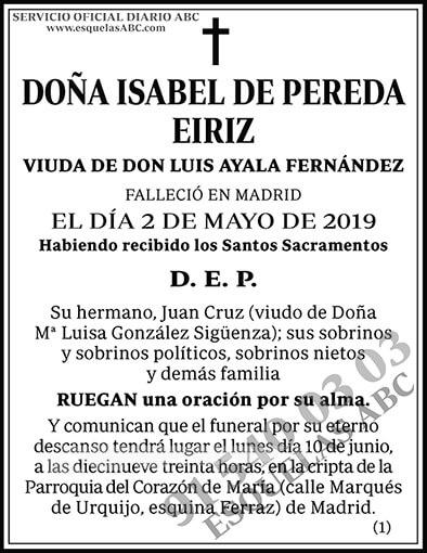 Isabel de Pereda Eiriz