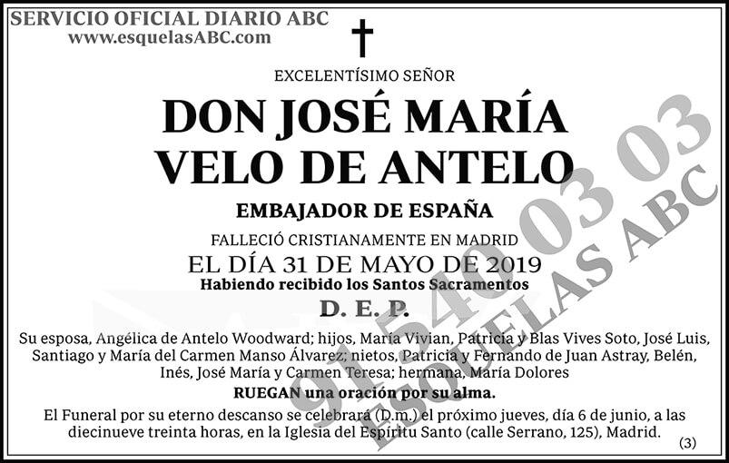 José María Velo de Antelo