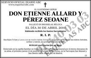 Etienne Allard y Pérez Seoane