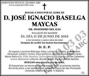 José Ignacio Baselga Maycas