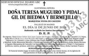 Teresa Muguiro y Pidal Gil de Biedma y Bermejillo