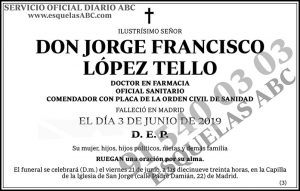 Jorge Francisco López Tello