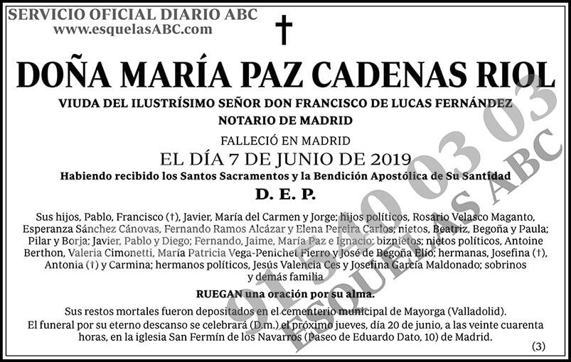 María Paz Cadenas Riol
