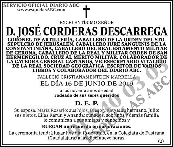 José Corderas Descarrega