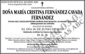 María Cristina Fernández-Cavada Fernández