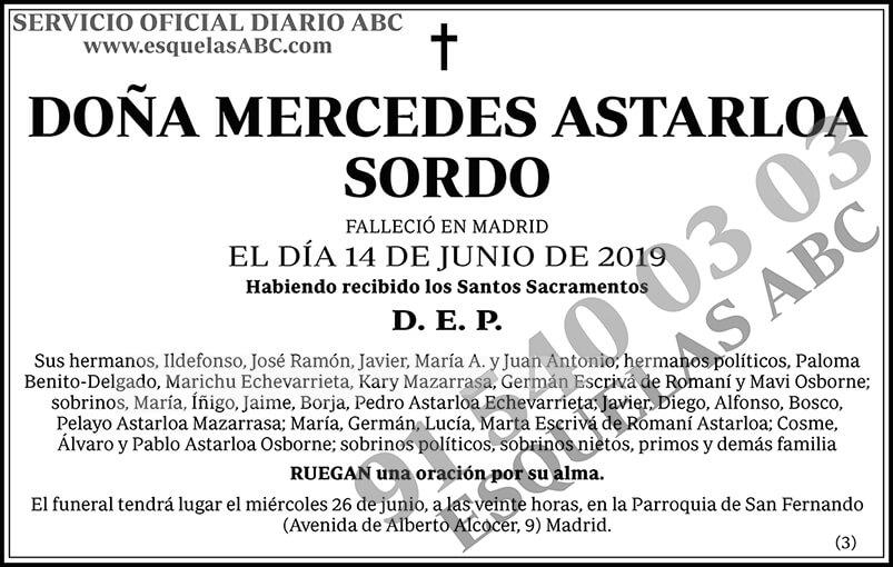 Mercedes Astarloa Sordo
