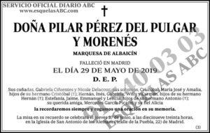 Pilar Pérez del Pulgar y Morenés