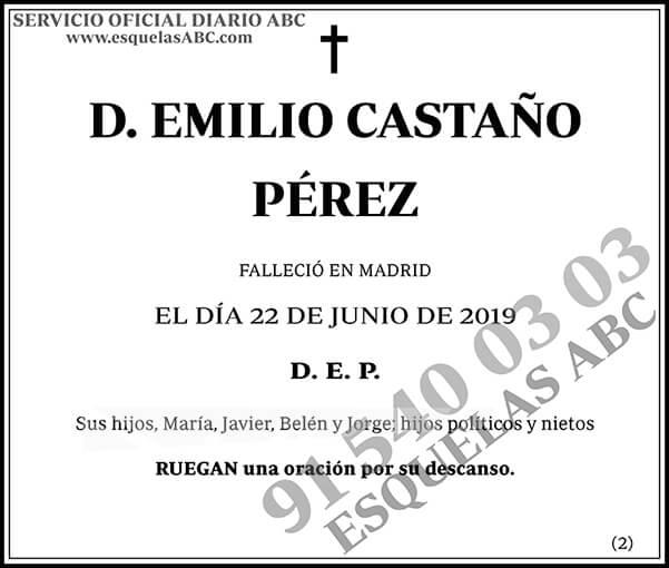 Emilio Castaño Pérez