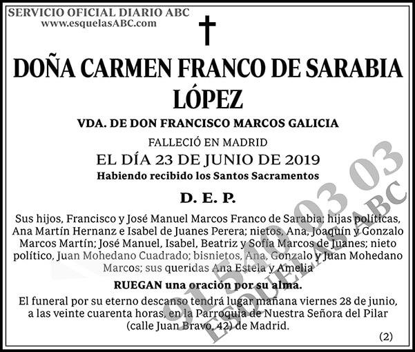 Carmen Franco de Sarabia López