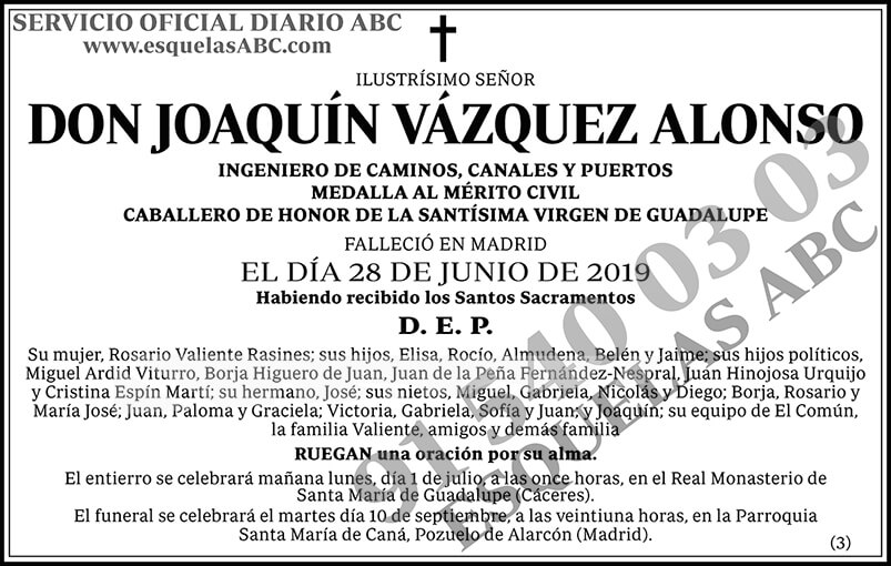 Joaquín Vázquez Alonso