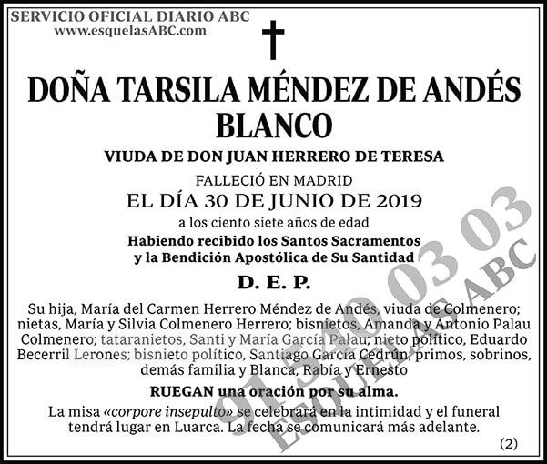 Tarsila Méndez de Andés Blanco