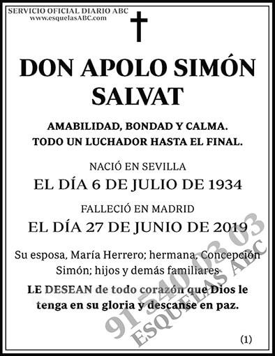 Apolo Simón Salvat
