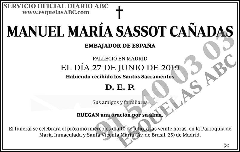 Manuel María Sassot Cañadas