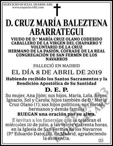 Cruz María Baleztena Abarrategui