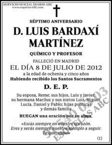 Luis Bardaxí Martínez