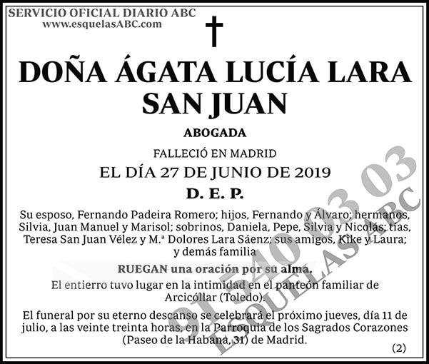 Ágata Lucía Lara San Juan