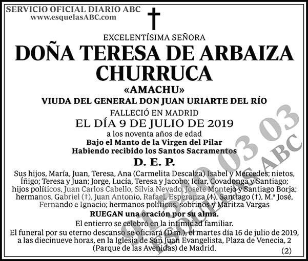 Teresa de Arbaiza Churruca
