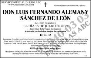 Luis Fernando Alemany Sánchez de León