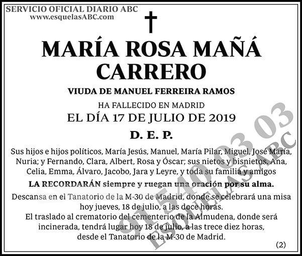 María Rosa Mañá Carrero