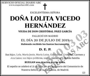 Lolita Vicedo Hernández